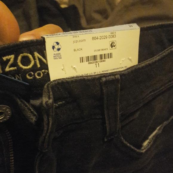 Arizona super high rise jeans black wash 11J